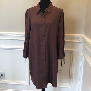 Express long sleeve dress in dark purple